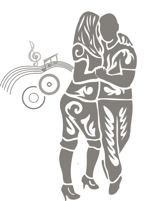 Emile and Veronika tribal logo with sun and music notation